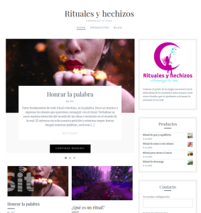 Web ritualesyhechizos.cl desarrollado con wordpress